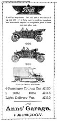 Market Pl Anns Ford Advert 1914