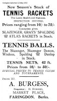 Market Pl Burgess Advert 1931