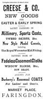 Market Pl Creese Advert 1914