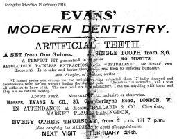 Market Pl Evans Advert 1916