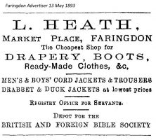 Market Pl Heath Advert 1893