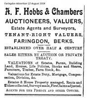 Market Pl Hobbs Advert 1914