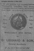 Market Pl Liddiard Advert 1893