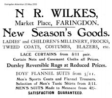 Market Pl Wilkes Advert 1931