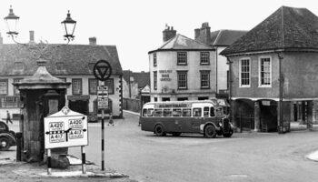 Market Place Bus 1950s