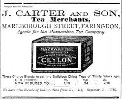 Marlborough St Carter Advert 1891