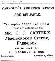 Marlborough St Carter Advert 1936
