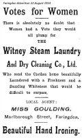 Marlborough St Goulding Advert 1914