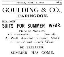 Marlborough St Goulding Advert 1931