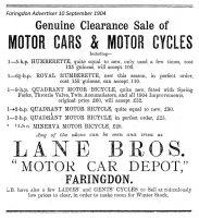 Marlborough St Lane Advert 1904