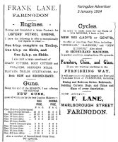 Marlborough St Lane Advert 1914