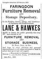 Marlborough St Lane Hawkes Advert 1907