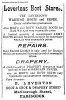 Marlborough St Leverton Advert 1919