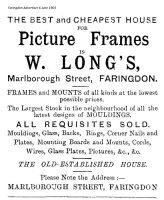 Marlborough St Long Advert 1903