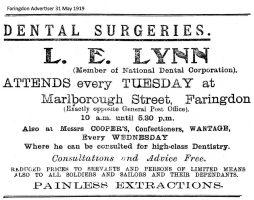 Marlborough St Lynn Advert 1919