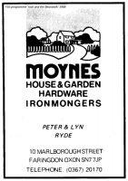 Marlborough St Moynes Advert 1988