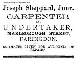 Marlborough St Sheppard Advert 1904