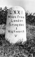 Milestone Highworth Road 1953