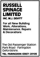Park Rd Spinage Advert 1988