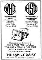 Park Rd White Horse Advert 1988