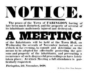 Police Notice 1838