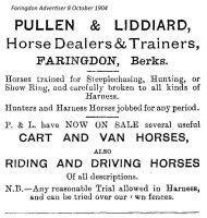 Pullen Liddiard Advert 1904