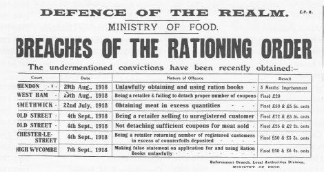Rationing Order 1914