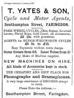 Southampton St Yates Advert 1907