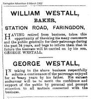 Station Rd Westall Advert 1902