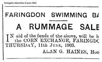 Swimming Bath Advert 1903
