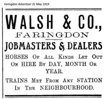 Walsh Advert 1919