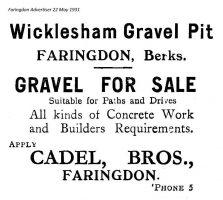 Wicklesham Gravel Advert 1931